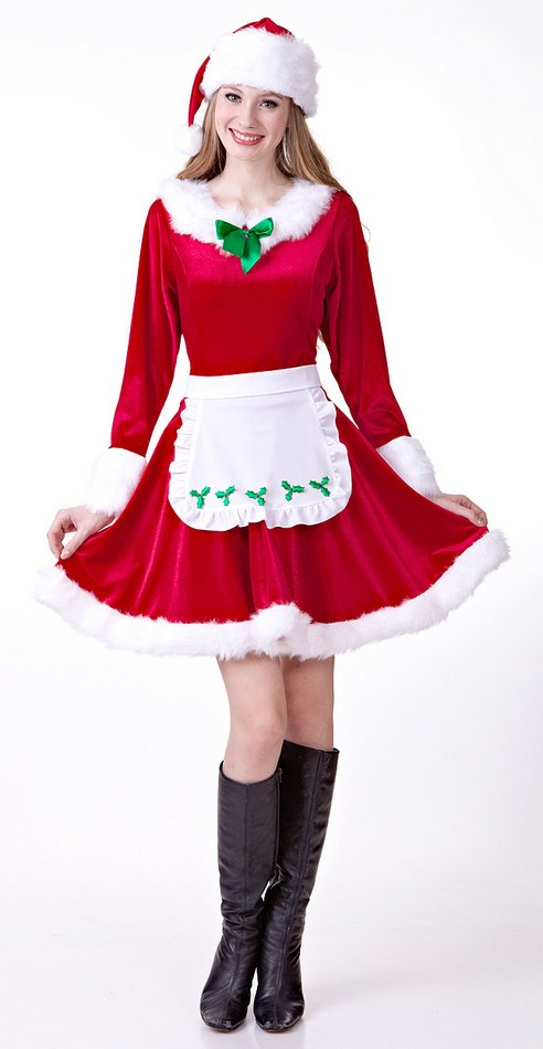 FC143 Sexy Santa Costume Cosplay Christmas Costume Cute Girl Christmas Dress