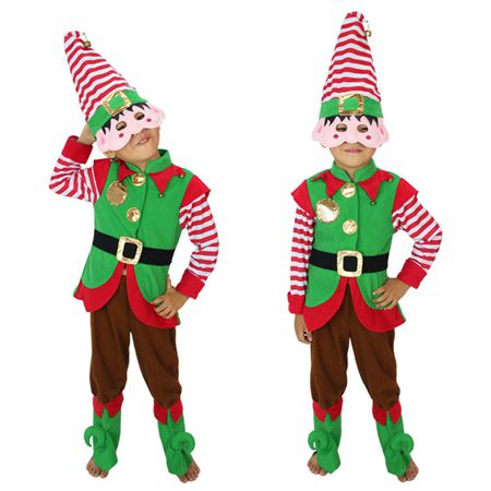 FC147 Santa Clauss Little Elf Baby Costume Christmas  Party Baby Costume