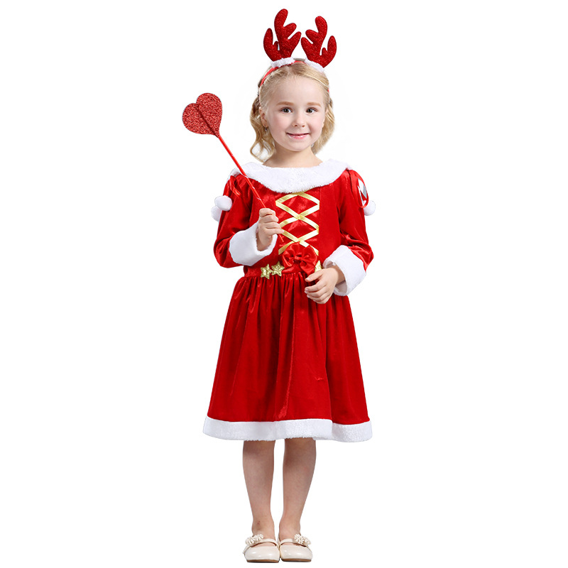 FC149 Santa Clause Christmas Fancy Dress Outfit Red