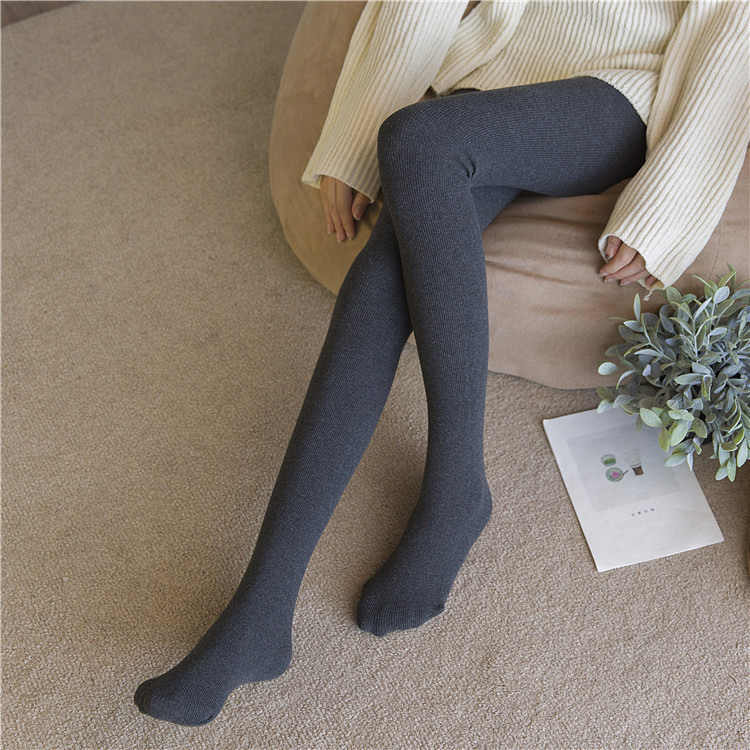 SZ60074-1 Womens Cotton Opaque Knitted Patterned Tights