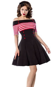 SZ60087-2 Womens Stripes Vintage Retro 1950s Style Swing Cocktail Dress