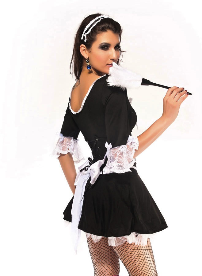 SZ60088 Half Sleeves Match Sets Maidservant Stage Cosplay Costume Fancy Dress