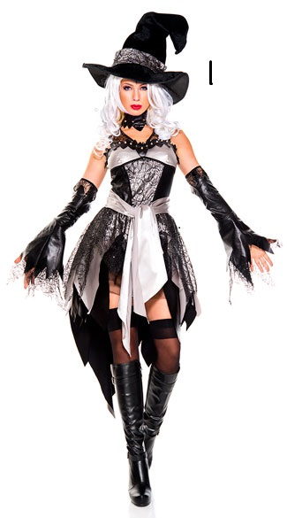 SZ60089 Adult Womens Deluxe Glam Witch Halloween Costume