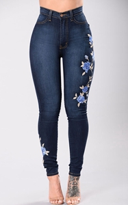 SZ60109 embroidered denim jeans