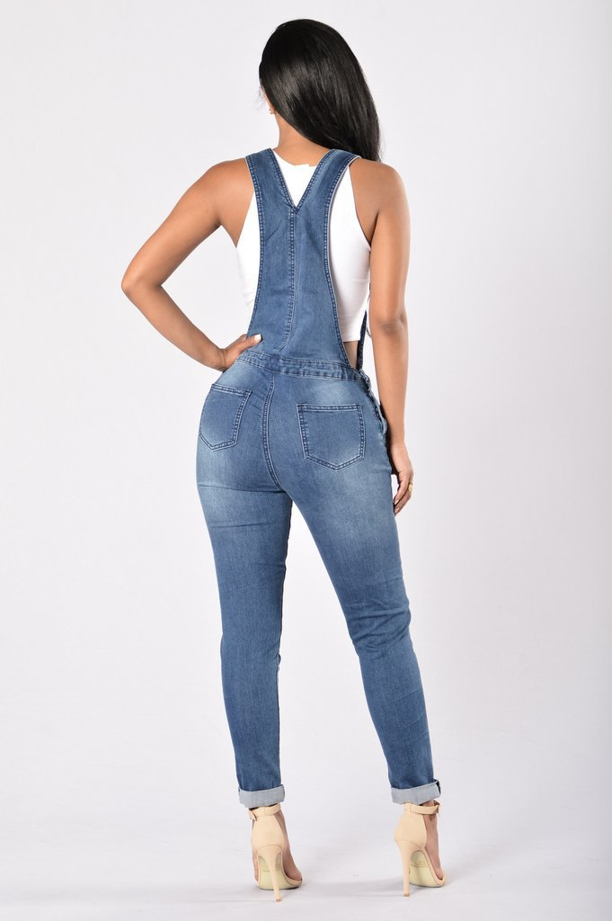 SZ60112 jean overalls for women