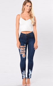 SZ60113 ripped distressed jeans