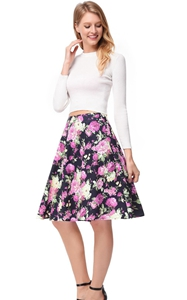 SZ60139-2 Long Sleeve Crop Top & Off Black High-Low Skirt