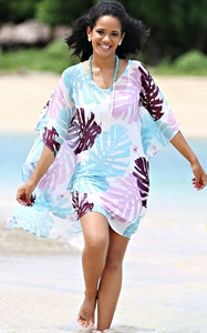 4705Printed Beach Bikini Cover Up Summer Elegant
