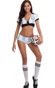 F1825World Cup Cheerleader Uniform Top  Shorts