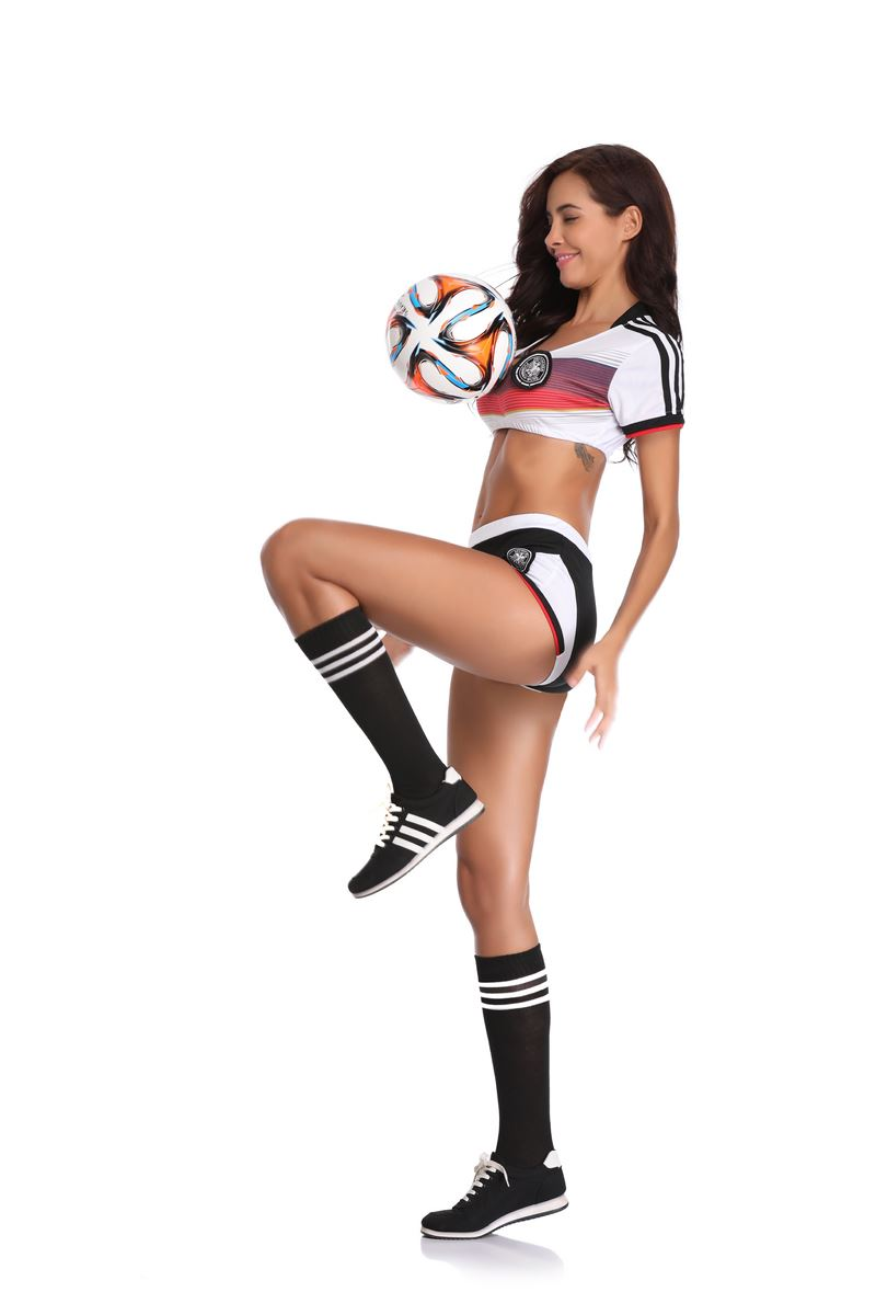 F1826Cosplay Sexy Uniform Soccer Player Cheerleader