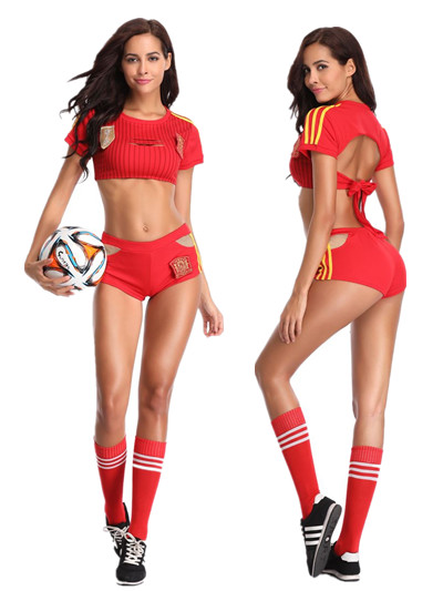 F1827Cosplay Sexy Uniform Soccer Player Cheerleader