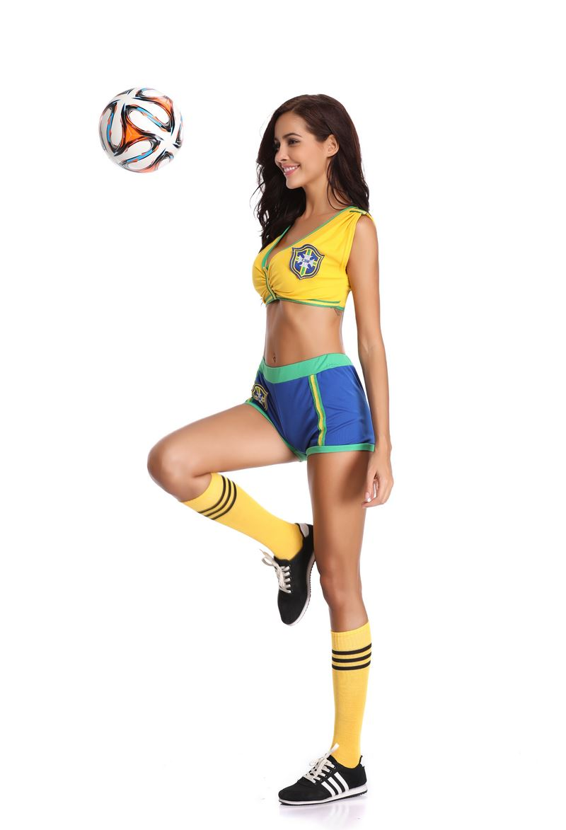 F1828 World Cup Cheerleader Uniform Football Baby Games