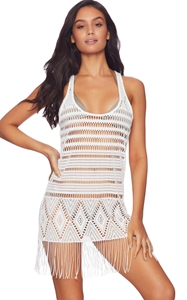 BY420072-1 Sexy Summer Beach Fringe Dress in Black