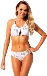 BY410557 Vertical Striped Classic Two Piece Bathing Suit