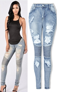 SZ60172 high waisted jeans for women