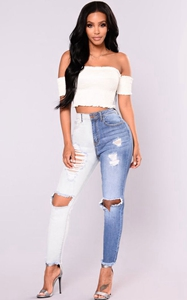 SZ60171 destroyed jeans for women/destroyed jeans
