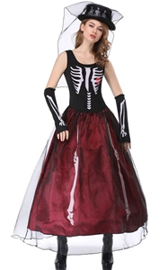 F1846 skeleton costume women