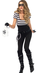F1850 Womens Bank Robber Costume