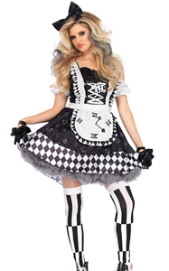 F1853 Womens 2 Pc Wonderland  Costume
