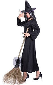 F1868 Classic Womens Elegant Witch Costume