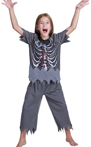F68144 skeleton costume boys