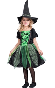 F68146-1 witch costume for girls