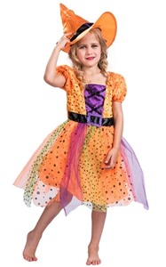 F68149 witch costume for girls