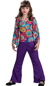 F68154 hippie costume for girls