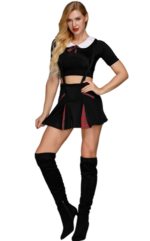 F1871 Ladies Naughty SchoolGirl Costume Fancy Dress Costume Uniform Hen Parties