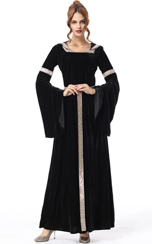 F1876 vintage witch costume