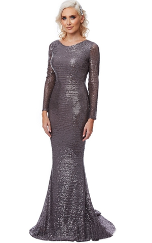 W25061-1 mermaid sequin dress