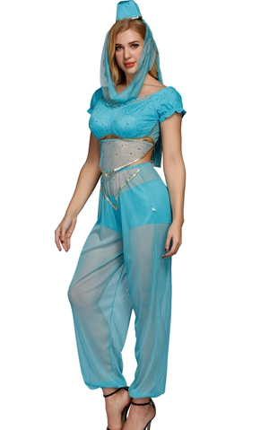 F1229A Genie Rhoda Carpet Sexy Adult Costume