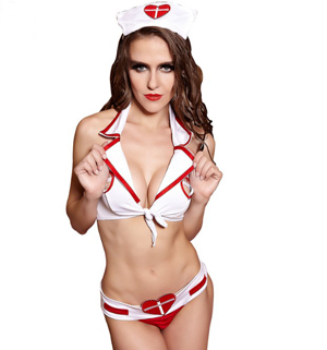 F1510 Nurse Sexy Lingeire Sets With Headdress Doctor Cosplay Party Costume