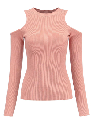 SZ60178-3 Casual Sheath Knitted Solid Sweaters