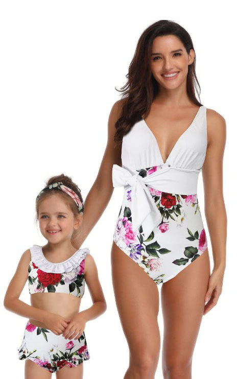 F4727-2 mother and daughter swimsuit mommy and me swimwear bikini