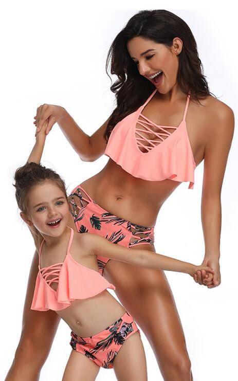 F4816-1 mother daughter swimsuits matching