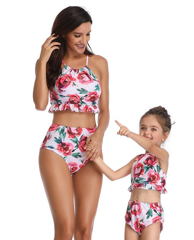 F4822 matching mommy daughter swimsuits