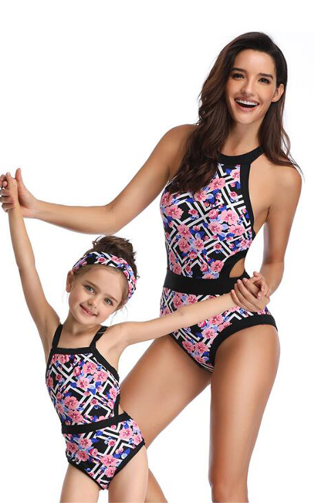 F4823-1 mother daughter one piece