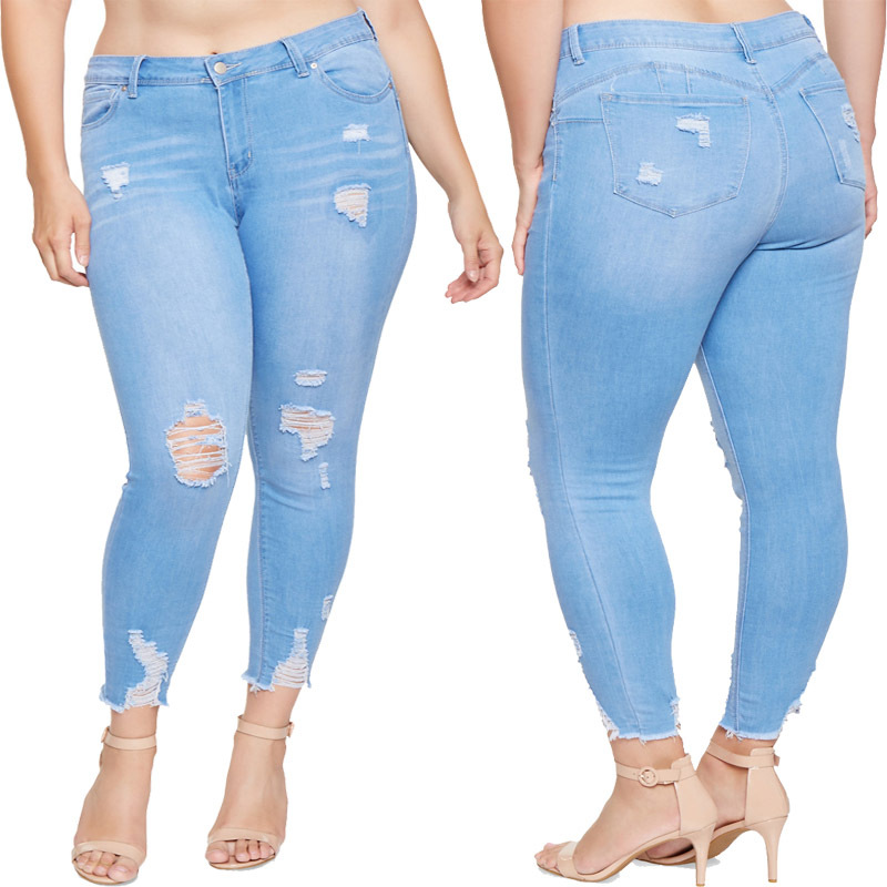 SZ60209 ripped distressed jeans