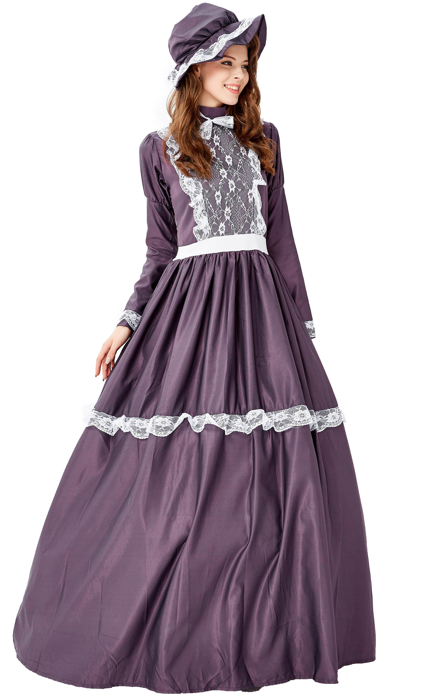 F1949 Womens Medieval Renaissance Ladies Dress Cosplay Masquerade Costume