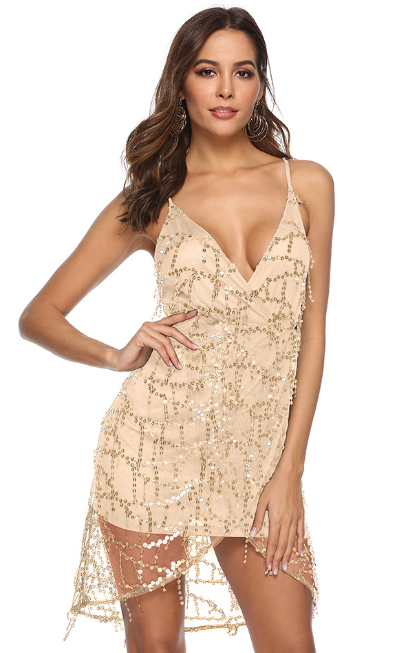 SZ60249-3 Spaghetti Strap Dress