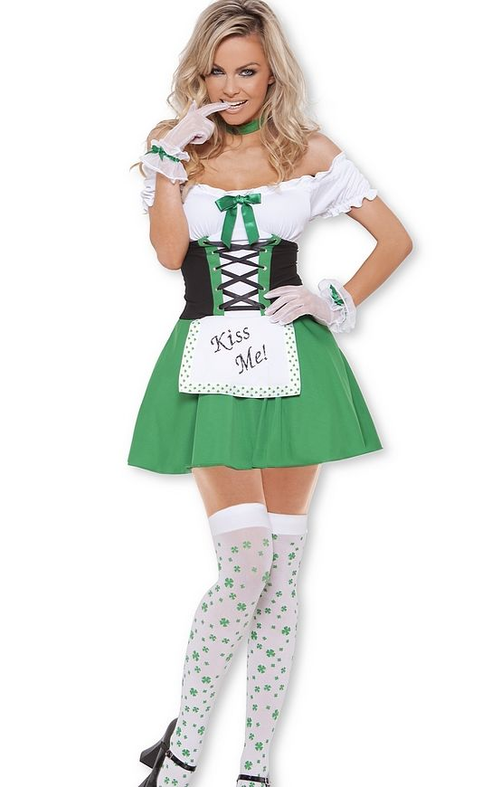 Light Up Kiss Me Irish Woman Costume