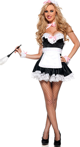 French Kiss Maid Costume