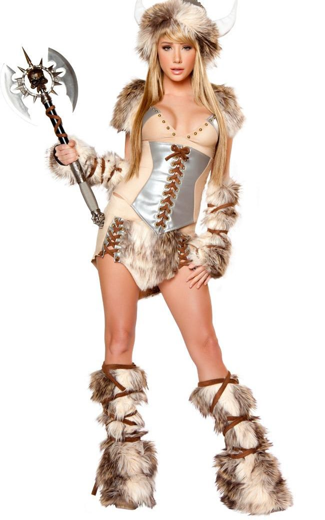 Sexy Viking Deluxe Costume