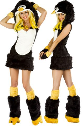 Cute Penguin Costume with Zipper