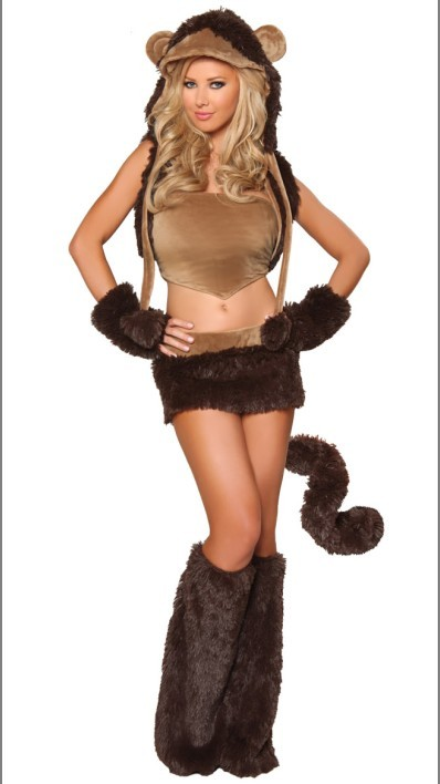 Womens lovely Sexy Monkey Costume