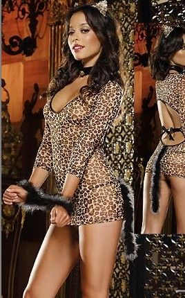 On the Prowl Leopard Lingerie Set