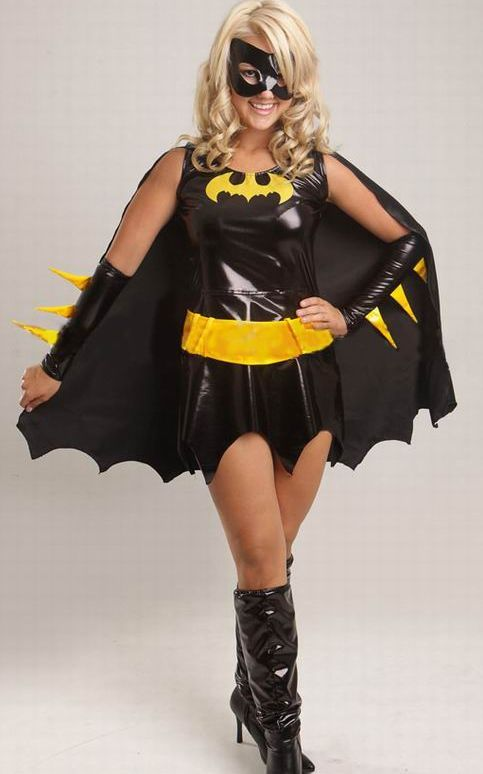 Batgirl Superhero Fancy Dress Costume