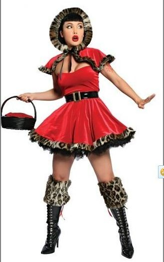 Leopard Trim Little Red Riding Hood Costume