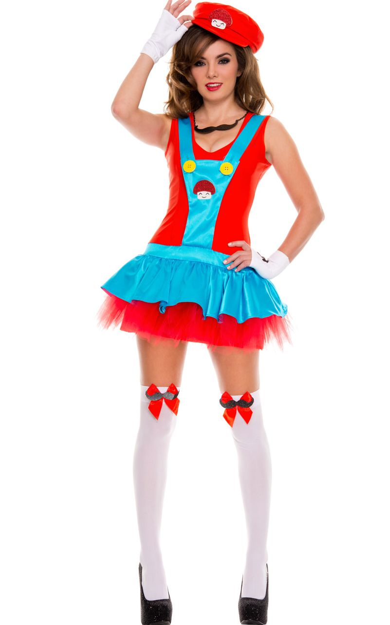 Red Playful Plumber Costume